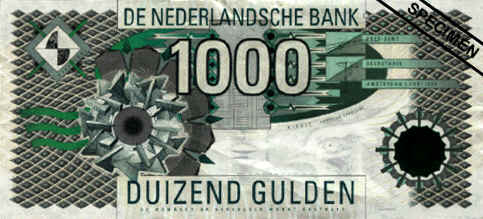 NETHERLAND CURRENCY (1000 Gulden)