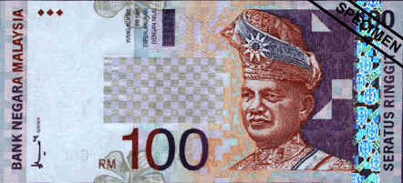 Hundred ringgit (RM100)